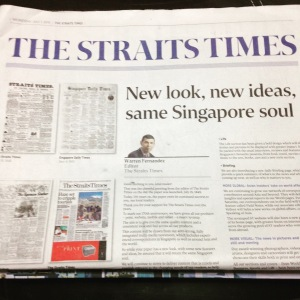The Straits Times with a brand new look